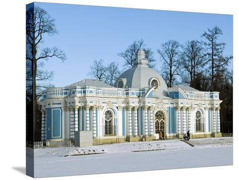 St Petersburg, Tsarskoye Selo, Catherine Palace - the Grotto, Russia-Nick Laing-Stretched Canvas Print