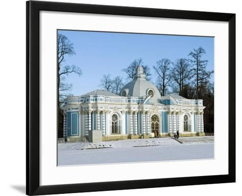 St Petersburg, Tsarskoye Selo, Catherine Palace - the Grotto, Russia-Nick Laing-Framed Art Print