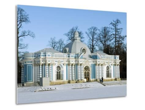 St Petersburg, Tsarskoye Selo, Catherine Palace - the Grotto, Russia-Nick Laing-Metal Print