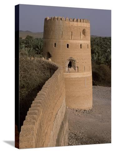 Watchtower of the Old Fort in the Village of Afi Sefalah-John Warburton-lee-Stretched Canvas Print