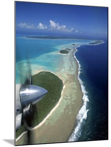 Lagoon and Beach, Aitutaki, Cook Islands-Walter Bibikow-Mounted Photographic Print