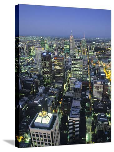 Skyline, Melbourne, Victoria, Australia-Doug Pearson-Stretched Canvas Print