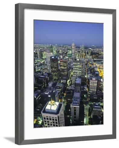 Skyline, Melbourne, Victoria, Australia-Doug Pearson-Framed Art Print