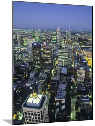 Skyline, Melbourne, Victoria, Australia-Doug Pearson-Mounted Photographic Print