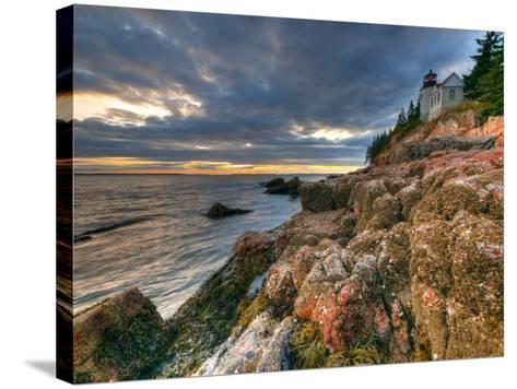 Maine, Mount Desert Island, Bas Harbor, Bas Harbor Lighthouse, USA-Alan Copson-Stretched Canvas Print
