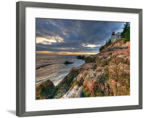 Maine, Mount Desert Island, Bas Harbor, Bas Harbor Lighthouse, USA-Alan Copson-Framed Art Print