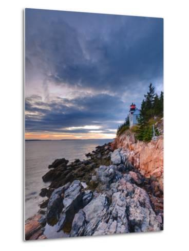 Maine, Mount Desert Island, Bas Harbor, Bas Harbor Lighthouse, USA-Alan Copson-Metal Print