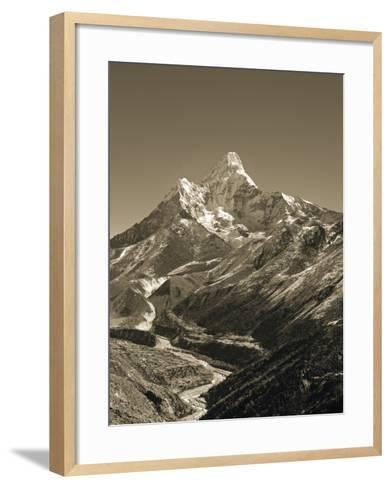 Ama Dablam, Khumbu Valley, Everst Region, Nepal-Jon Arnold-Framed Art Print