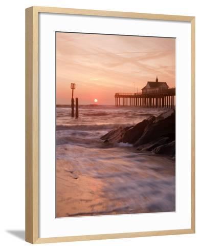 Southwold Pier at Dawn, Suffolk, UK-Nadia Isakova-Framed Art Print