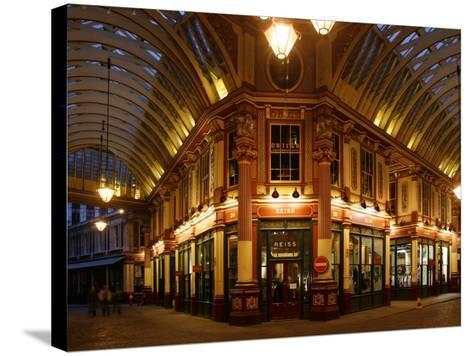 England, London, the Leadenhall Market in the City of London, UK-David Bank-Stretched Canvas Print