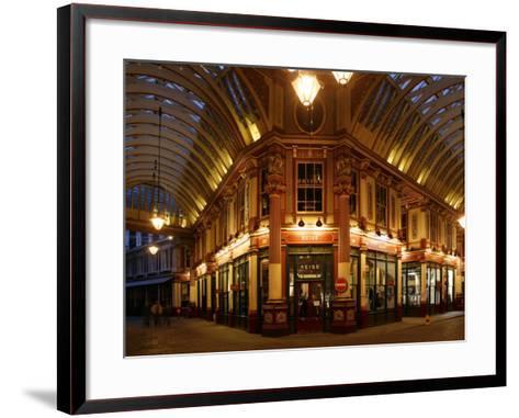 England, London, the Leadenhall Market in the City of London, UK-David Bank-Framed Art Print