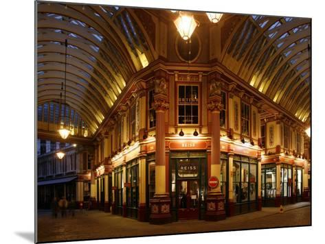 England, London, the Leadenhall Market in the City of London, UK-David Bank-Mounted Photographic Print