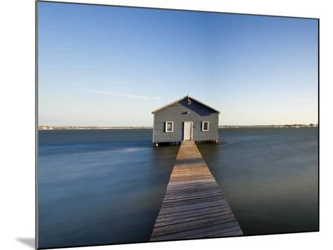 Swan River, Boat House and Jetty Perth, Wa, Western Australia, Australia-Peter Adams-Mounted Photographic Print