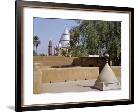 Grave of Al-Mahdi Lies Beneath the Large Mausoleum in Back, His Former Home Is in Foreground, Sudan-Nigel Pavitt-Framed Art Print