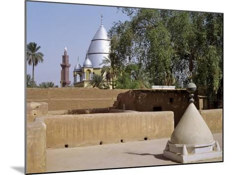 Grave of Al-Mahdi Lies Beneath the Large Mausoleum in Back, His Former Home Is in Foreground, Sudan-Nigel Pavitt-Mounted Photographic Print
