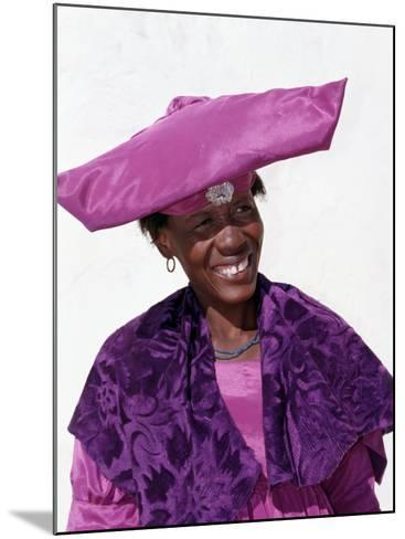 Herero Woman in Traditional Attire, Namibia-Nigel Pavitt-Mounted Photographic Print
