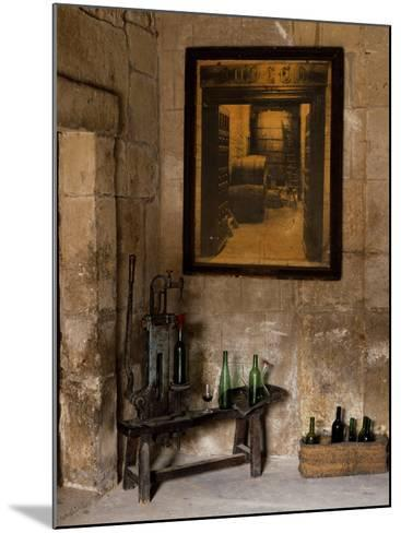 Old Bottling Machine Inside a Disused Winery in the Village of Abalos-John Warburton-lee-Mounted Photographic Print