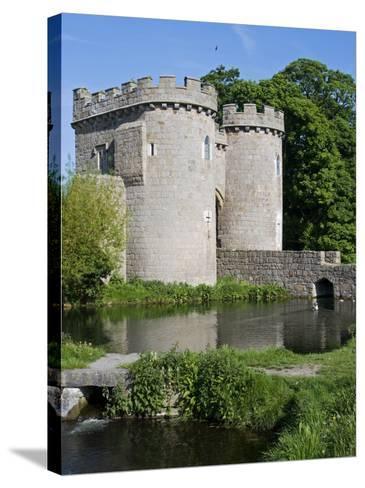 Shropshire, Whittington, Whittington Castle, England-John Warburton-lee-Stretched Canvas Print