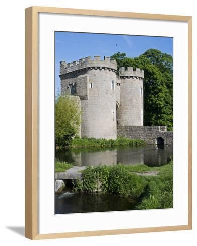 Shropshire, Whittington, Whittington Castle, England-John Warburton-lee-Framed Art Print