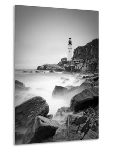 Maine, Portland, Portland Head Lighthouse, USA-Alan Copson-Metal Print