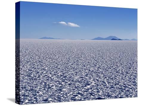 Endless Salt Crust of Salar De Uyuni, Largest Salt Flat in World at over 12, 000 Square Kilometres-John Warburton-lee-Stretched Canvas Print
