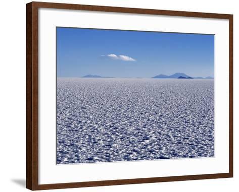 Endless Salt Crust of Salar De Uyuni, Largest Salt Flat in World at over 12, 000 Square Kilometres-John Warburton-lee-Framed Art Print