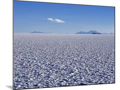 Endless Salt Crust of Salar De Uyuni, Largest Salt Flat in World at over 12, 000 Square Kilometres-John Warburton-lee-Mounted Photographic Print