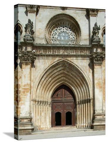 Santa Maria Abbey Door, Alcobaca, UNESCO World Heritage Site, Estremadura, Portugal, Europe-Godong-Stretched Canvas Print