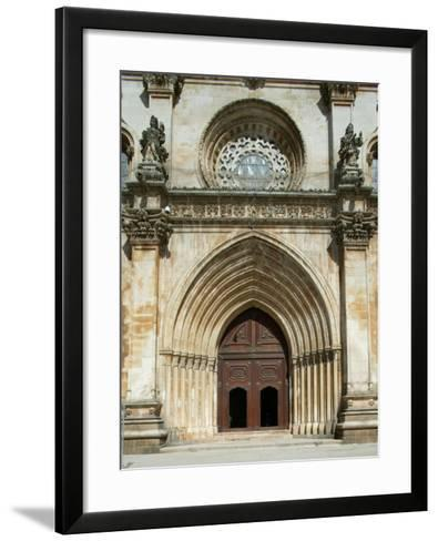 Santa Maria Abbey Door, Alcobaca, UNESCO World Heritage Site, Estremadura, Portugal, Europe-Godong-Framed Art Print