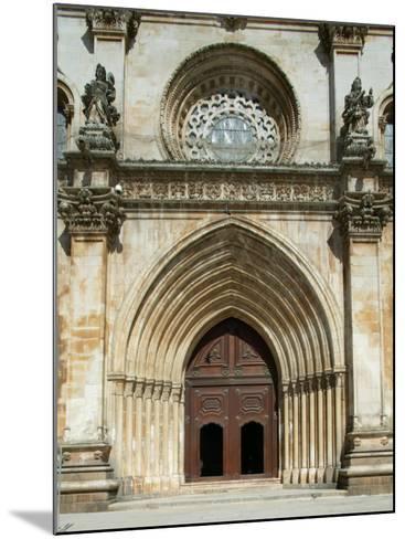 Santa Maria Abbey Door, Alcobaca, UNESCO World Heritage Site, Estremadura, Portugal, Europe-Godong-Mounted Photographic Print
