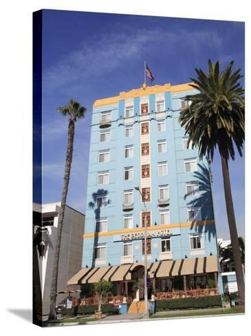 Art Deco, Georgian Hotel, Ocean Avenue, Santa Monica, Los Angeles-Wendy Connett-Stretched Canvas Print