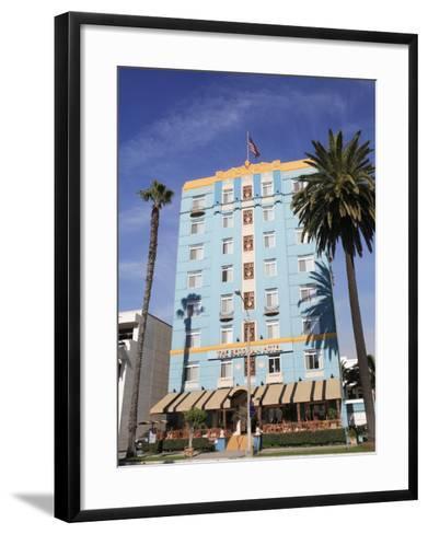 Art Deco, Georgian Hotel, Ocean Avenue, Santa Monica, Los Angeles-Wendy Connett-Framed Art Print