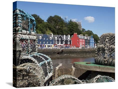Lobster Pots in Tobermory, Mull, Inner Hebrides, Scotland, United Kingdom, Europe-David Lomax-Stretched Canvas Print