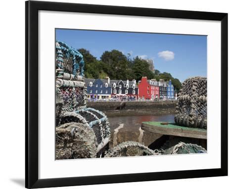 Lobster Pots in Tobermory, Mull, Inner Hebrides, Scotland, United Kingdom, Europe-David Lomax-Framed Art Print