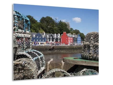 Lobster Pots in Tobermory, Mull, Inner Hebrides, Scotland, United Kingdom, Europe-David Lomax-Metal Print