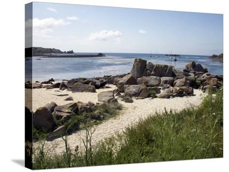 Porth Cress, St. Mary's, Isles of Scilly, United Kingdom, Europe-David Lomax-Stretched Canvas Print