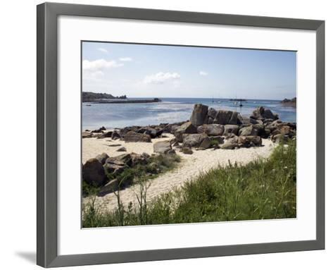 Porth Cress, St. Mary's, Isles of Scilly, United Kingdom, Europe-David Lomax-Framed Art Print