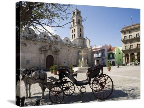 Plaza San Francisco and Basilica Menor De San Francisco De Asis, Old Havana-John Harden-Stretched Canvas Print