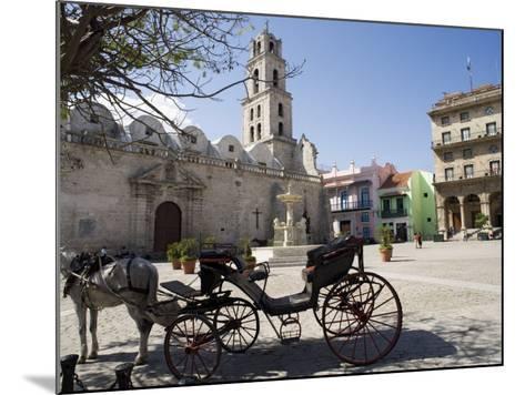 Plaza San Francisco and Basilica Menor De San Francisco De Asis, Old Havana-John Harden-Mounted Photographic Print