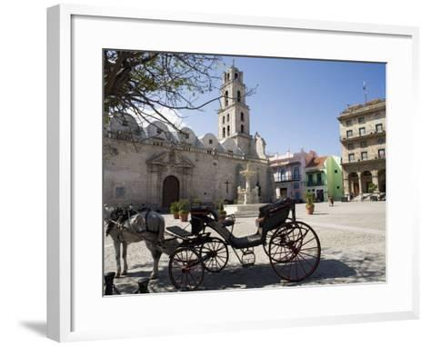 Plaza San Francisco and Basilica Menor De San Francisco De Asis, Old Havana-John Harden-Framed Art Print