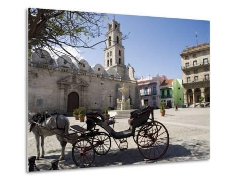 Plaza San Francisco and Basilica Menor De San Francisco De Asis, Old Havana-John Harden-Metal Print
