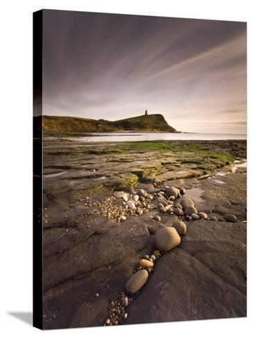 View across Kimmeridge Bay at Dusk Towards Hen Cliff and Clavell Tower, Perbeck District, Dorset-Lee Frost-Stretched Canvas Print