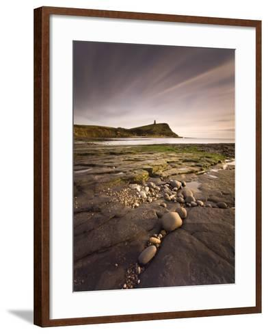 View across Kimmeridge Bay at Dusk Towards Hen Cliff and Clavell Tower, Perbeck District, Dorset-Lee Frost-Framed Art Print