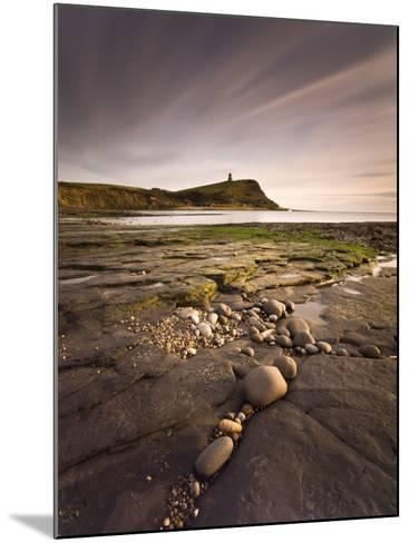 View across Kimmeridge Bay at Dusk Towards Hen Cliff and Clavell Tower, Perbeck District, Dorset-Lee Frost-Mounted Photographic Print