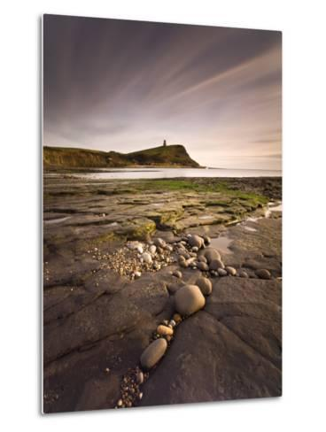 View across Kimmeridge Bay at Dusk Towards Hen Cliff and Clavell Tower, Perbeck District, Dorset-Lee Frost-Metal Print