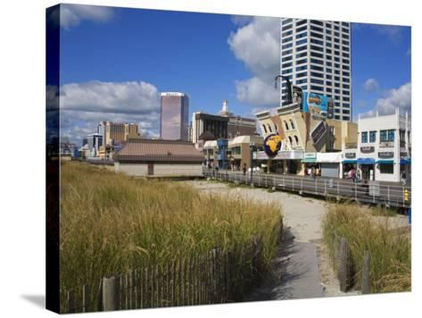Atlantic City Boardwalk, Atlantic City, New Jersey, United States of America, North America-Richard Cummins-Stretched Canvas Print