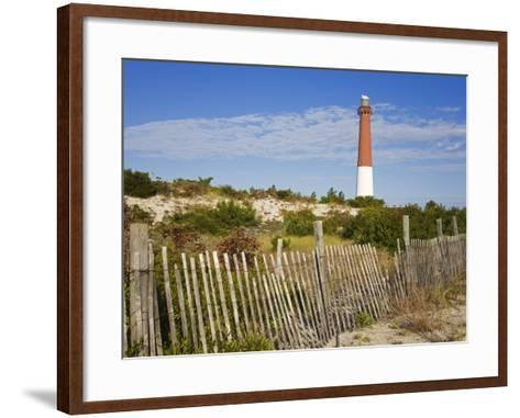 Barnegat Lighthouse in Ocean County, New Jersey, United States of America, North America-Richard Cummins-Framed Art Print