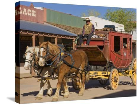 Stagecoach, Tombstone, Cochise County, Arizona, United States of America, North America-Richard Cummins-Stretched Canvas Print