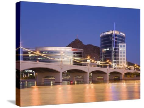 Town Lake and Mill Avenue Bridge, Tempe, Greater Phoenix Area, Arizona-Richard Cummins-Stretched Canvas Print