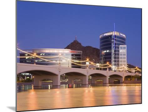Town Lake and Mill Avenue Bridge, Tempe, Greater Phoenix Area, Arizona-Richard Cummins-Mounted Photographic Print